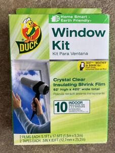 DUCK BRAND Indoor 10-window Shrink Film Insulator Kit 62-inch X 420-inch