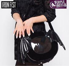 IRON Fist Night Stalker Nero Ala Di Pipistrello ROUND Tote Bag