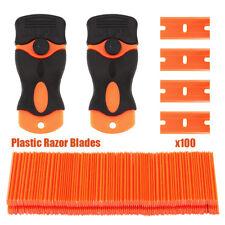 NEW 100 Plastic Razor Blade Scraper Edge Sticker Paint Clean Water Wiper  SHIP