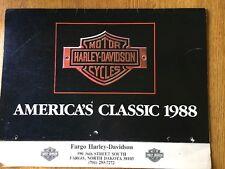 Vintage 1988 HARLEY-DAVIDSON America's Classic CALENDAR Model Motorcycles ,Fargo