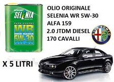 5 LT OLIO MOTORE ORIGINALE SELENIA WR 5W30 ALFA ROMEO 159 2.0 JTD-M DIESEL 170CV