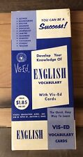 Vintage Vis-Ed English Cards Develop Your Knowledge Vocabulary Flash Study Learn