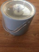 Vintage Georges Briard Sky Blue Ice Bucket with Lid Mcm