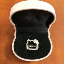 Authentic Sanio Hello Kitty rhinestone ring with hello kitty jewelry box