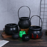 Halloween Candy Kettles Pot Halloween Cauldron Bucket With Handle Kids Toy ME