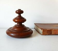 Turned wood finial Antique vintage wooden topper Salvage architectural Furniture