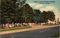 Postcard Kat-O-Log Motel Court in Dothan, Alabama~132308
