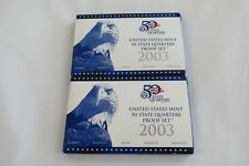 2003 United States State Quarter Sets. Both Sets Include the COA. (2)