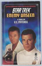 Star Trek Enemy Unseen V E Mitchell Pocket 1990 2nd Printing US Paperback Good