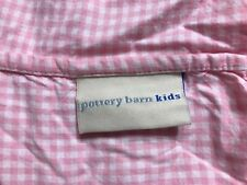 Pottery Barn Kids Twin Fitted Sheet Pink Gingham Euc