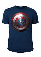 Marvel Comics - Captain America Civil War Herren T-Shirt - Shield (Navy) (S-XL)