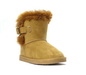 New Kids Classic Snow Boots Suede Faux Fur Fashion Buckle Boots Outdoor Shoes ||