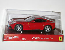 Hot Wheels - FERRARI F12 BERLINETTA (Red) Model Scale 1:24
