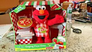 2007 FISHER PRICE SINGING PIZZA ELMO IN ORIGINAL BOX FOR PARTS OR REPAIR