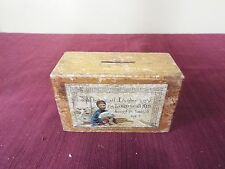 Victorian - elaborately lithographed Missionary Donation Box - Missionary Bank