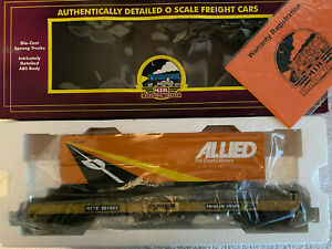 "MTH Trailer Train Flat Car w/ 40' ""Allied - The Careful Movers"" Trailer"