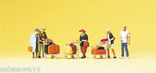 Preiser 75033 Traveler with Luggage Trolleys Figurines Orig, Tt