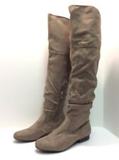 "Bucco Capensis ""Perrin"" Slouchy Over-The-Knee Boots Taupe Size 7.5M   #40"