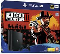 Sony Playstation 4 PS4 Pro 1TB Red Dead Redemption 2 Console Bundle CUH-7216B