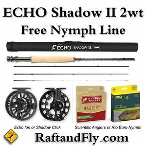 """Echo Shadow II 2wt 10'0"""" Outfit - Free Nymph Line"""