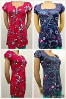 LADIES EX DEBENHAMS COLLECTION PRINTED SUMMER TOP 100% COTTON  COLOURFUL TOP