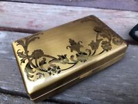 Vintage Elgin American Gazelle Art Deco Ladies Travel Compact Purse Lipstick