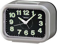 Seiko Alarm Clock With Klingel-Alarm Silver/Black QHK026S