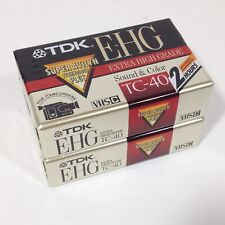 New Blank VHS-C camcorder cassettes sealed E-HG extra high grade TC-40 lot of 2