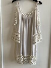 CREAM CROCHET KAFTAN TOP 14/16 SUMMER HOLIDAY IBIZA MARBS GLAM PRETTY BEACH