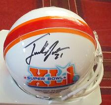 FRANK GORE SF 49ers Autographed Super Bowl Mini Helmet including BDS COA #1373