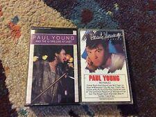 Paul Young 2 Cassette Lot Q-Tips Live At Last No Parlez Rock Pop R&B Very Good