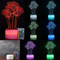 3D Illusion Desk Lamp 7/16 Color Change Desk LED Table Night Light Birthday Gift