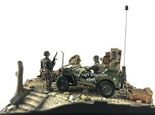 1:32 Diecast Metal Unimax Toys Forces of Valor WWII ETO US Army Jeep GPW