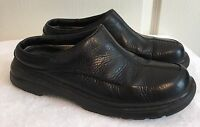 Womens COLUMBIA Kearney Black Leather Mules Loafers Clogs Shoes SIZE 8 EU 39