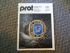 Old Vintage 1975 Pro! Green Bay Packers Buffalo Bills Program Golden Boys Canton