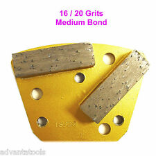 Trapezoid HTC Style Grinding Shoe / Disc / Plate - Medium Bond - 16/20 Grit