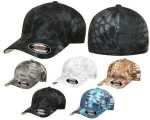 FLEXFIT Classic KRYPTEK 6-Panel Fitted Camo Baseball Cap HAT S/M & L/XL New!