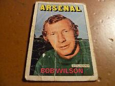 A & A.C. Chicle Fútbol Tarjeta 1972/73 Rojo Naranja atrás Bob Wilson Arsenal #57