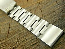 Vintage Seiko Deployment Clasp Watch Band 20mm Stainless Steel Pre-Owned Long