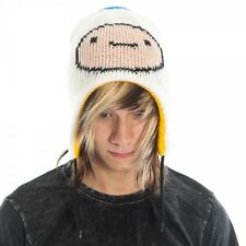 Adventure Time Jake & Finn Face Reversible Laplander Beanie Hat Licensed UNWORN