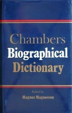 BOOK-Chambers Biographical Dictionary,Magnus Magnusson- 9780550160409