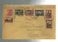 1932 Danzig Graf Zeppelin Cover Complete set # C31-C35 to Lima Peru