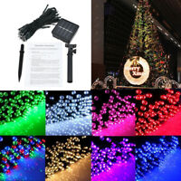 50 LED String Solar Powered Light Outdoor Garden Christmas Party Fairy Tree Lamp
