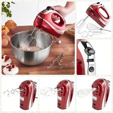 Electric 5 Speed Mixer Handheld Blender 2 Beaters/2 Dough Hooks & Balloon Whisk