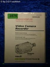 Sony Manuel d'utilisation CCD tr501e/tr502e/tr620e Video Camera (#3576)