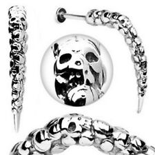 One 316L Surgical Steel Artistic Skull Carved Long Claw Labret