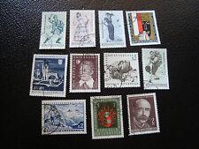AUTRICHE - timbre yt n° 1160 a 1166 1168 1170 a 1172 obl (A5) stamp austria