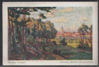 45384) Künstler AK Märkische Landschaft Städtchen Templin Uckermark ca. 1935