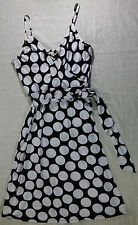XL POLKA DOT, SPAGHETTI STRAP DRESS W TIE BY MERONA, BRAND NEW!