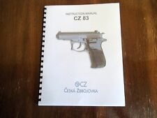 CZ 83 LARGE PRINT INSTRUCTION MANUAL FOR 9MM SEMI AUTO PISTOL 15 PAGE COMB BOUND